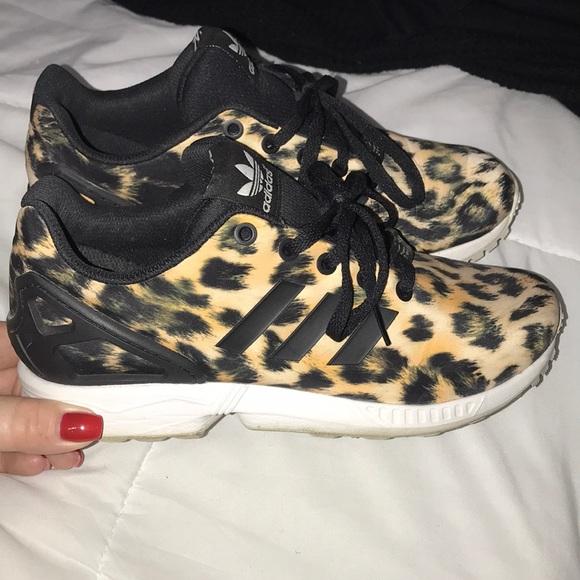 low priced a0626 dffbf Big Kids Cheetah Adidas ZX Flux